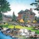 Castle Pines Hotel proposed back elevation