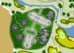 Jinhai Lake Golf Club Siteplan