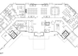 Rain Dance Golf Clubhouse Floor Plan, Main Level
